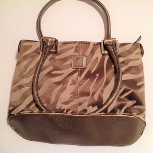 Anne Klein Animal Print Handbag In Good Condition